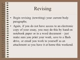 revising body paragraphs for content and support ppt 27 revising