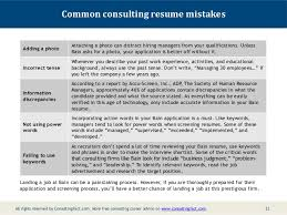 10; 11. Common consulting resume ...