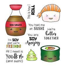 <b>ZhuoAng</b> Sashimi Sushi Liquor Clear Stamps/Seals For DIY ...