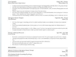 Marriage And Family Therapist Resume Best Of Residential Counselor