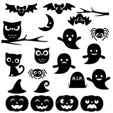 Halloween silhouettes  Stock Vector
