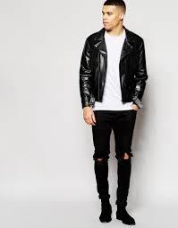 asos jersey biker jacket with fringe asos leather biker jacket with suede fringe detailing