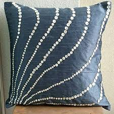 slate blue pillows.  Slate Blue Pillow Covers 18x18 Outdoor Handmade Slate Pillows Cover Mother  Of Pearls Throughout O