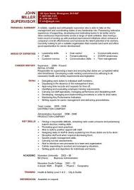 Example Of A Skills Resume Examples Of Resumes
