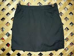 Nike Golf No Sew Knit Skort Skirt Womens Black Stretch