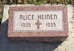 Alice Heinen (1935-1935) - Find A Grave Memorial