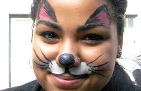 face painting kitty