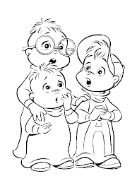 Small Picture Inspirational Alvin And The Chipmunks Coloring Pages 53 For