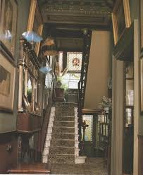 Beautiful interior of entry area of an authentic Victorian home.