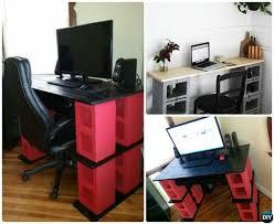 concrete block furniture. DIY Cinder Block Desk-10 Concrete Furniture Projects