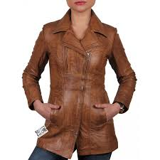 las tan leather biker jacket mellisa