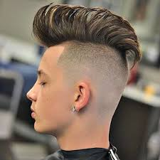 long straight hair men mohawk with shaved sides