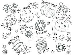 daisy scout coloring pages brownie girl scout coloring pages girl scout cookies coloring pages printable to