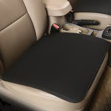 <b>KKYSYELVA</b> Leather Universal <b>Car Seat Cushion</b> Cover Seat mat ...
