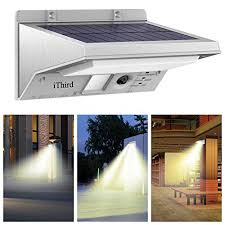New Version PIR Sensor】GMFive 4 LED PIR Sensor Motion Waterproof Solar Garage Lighting