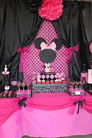 Pink And Black Minnie Mouse Decorations 295 Best Images About Mickey Minnie Friends Party Ideas On