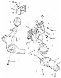 buy porsche cayenne mki engine mounts design  engine mount porsche 955 957 cayenne zoom in 2