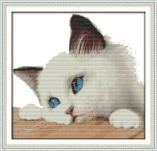 Free Printable Counted Cross Stitch Charts Us 7 75 49 Off Joy Sunday Animal Style Blue Cat Counted Cross Stitch Patterns Free Printable For Wholesale Online Store Factory Sale In Package From