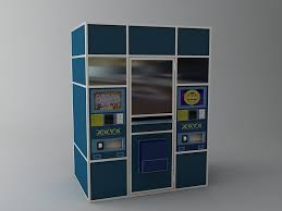 Vending Machine 3d Model Beauteous Lottery Vending Machine 48D Model FlatPyramid