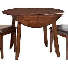 Intercon Kona Wooden Round Top Drop Leaf Dining Table Goffena