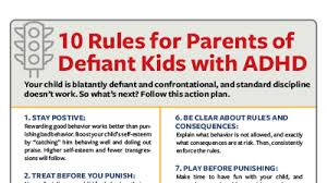 Rules And Consequences Chart Adhd And Defiance 10 Rules For Parents To Live By