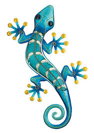 amazon regal art gift gecko wall decor 24 inch blue home kitchen