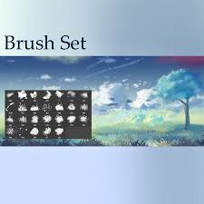 Cloud Photoshop Brushes Clouds Grass And Leaves Brushes Photoshop Brushes