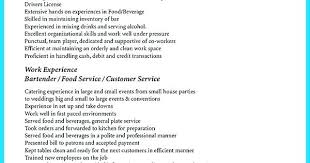 Resume For Bartending Bartender Resumes Samples Resume For Bartender ...