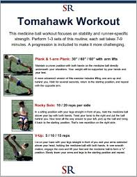 the tomahawk cine ball workout video demonstration strength running