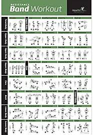 Personal Training Chart Resistance Band Tube Exercise Poster Laminated Total Body