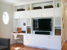 ... Wall Units, Captivating Wall Unit With Desk And Tv Combination Computer Desk  Tv Stand White ...