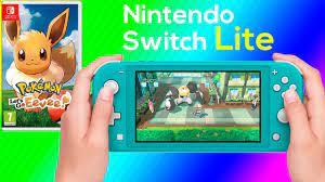 Pokemon Lets Go Eevee Nintendo Switch Lite Gameplay - YouTube