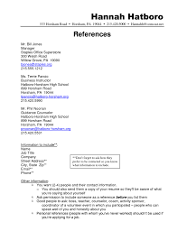 Sample Resume References For Resume Template References For