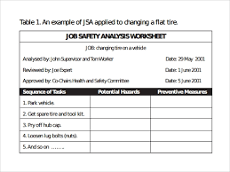 job safety analysis template sample job safety analysis template 6 free documents in pdf