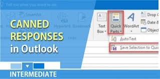 Create Outlook Create Canned Responses In Microsoft Outlook By Using Quick