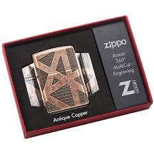 49036 <b>Зажигалка Zippo Geometric</b> 360, Armor Antique Copper