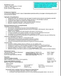 Summary Resume Sample Student Examples For Students Good Summaries A
