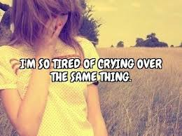 Sad Quotes I'm So Tired Of Crying Over The Same Thing Delectable Sad Crying Images With Quotes