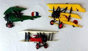 vintage airplane wall art metal biplane