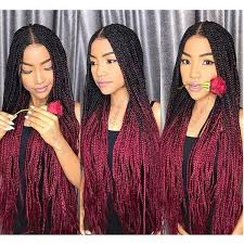 Freetress Braiding Hair Color Chart Ombre Xpression Braiding Hair Two Tone 1b 99j Black Roots Dark Red Kanekalon Synthetic Color Xpression Braids Hair Extensions 24 Inch 100g Freetress