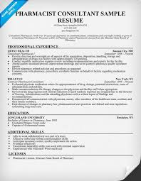 Gallery Of Sample Resume Pharmacist Sample Resume Cv Template