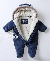 baby boy s hooded rompers autumn and winter thickening toddler wadded jacket outerwear newborn romper coats