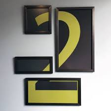 abstract number modern guys diy man cave ideas