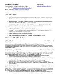 Media Resume Template Resume Templates Social Media Sample Unusual Skills For Fascinating