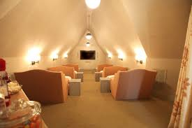 attic lighting ideas. It Would Be Fabulous If The Lighting Were Able To Dim As Well. This Room Also Has A Place For Snacks Feed Guests. Attic Ideas