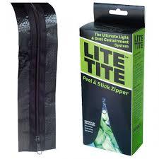 Light Proof Zipper Door Lite Tite Peel And Stick Zip System