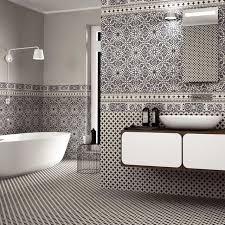 orly black and white patterned tiles direct tile warehousemediterranean bathroom