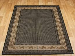 greek key flatweave black