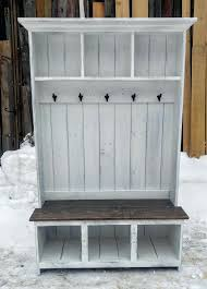 Rustic hall tree bench Build Your Own White Hall Tree Bench Farmhouse Rustic White Hall Tree Bermuda Hall Tree Bench Brushed White Tyres2c White Hall Tree Bench Farmhouse Rustic White Hall Tree Bermuda Hall