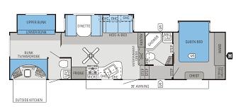 2016 eagle fifth wheels 34 5bhts floorplan